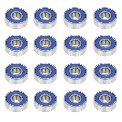 Accessotech–16ruedas antifricción para monopatín (rodamientos ABEC 9Scooter ruedas rodamientos de repuesto