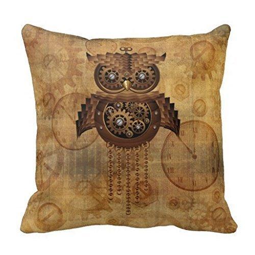 hidoon® cottonhouse Steampunk style vintage Motif chouette Taie d'oreiller