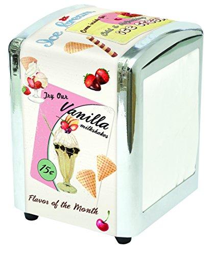 Serviettenhalter Ice Cream Retrolook mit 26 Servietten von Opus 4 (Cream-servietten Ice)