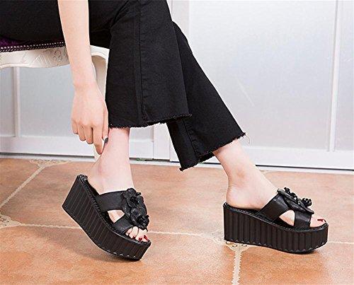 pengweiSommer Lady Pantoffeln und Sandalen mit Kiefernkuchen 2