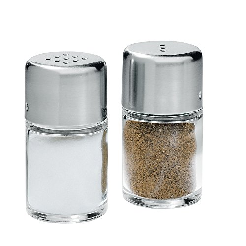 WMF Salz-/ Pfefferstreuer-Set 2-teilig Pfefferstreuer Salzstreuer Bel Gusto Cromargan Edelstahl rostfrei spülmaschinengeeignet (Möbel Aus Glas Italienische)