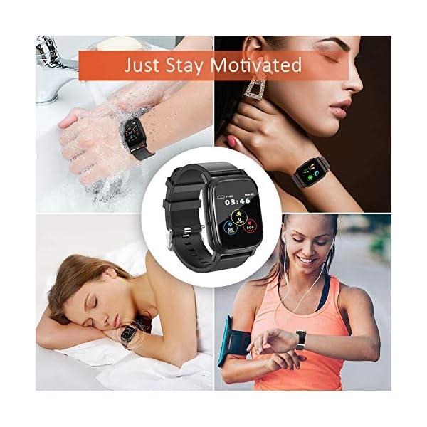 BYTTRON Smart Watch Fitness Tracker, Bluetooth Smartwatch IP68 a Prueba de Agua con Monitor de sueño de frecuencia… 7