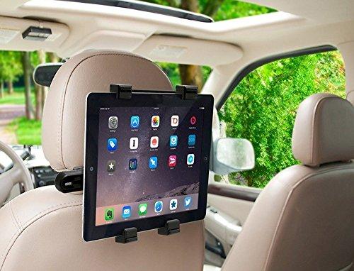 ghb supporto tablet MMOBIEL Supporto per Auto Girevole per poggitesta per Posto Posteriore con Dock Compatibile con iPad/Samsung Tab ed Altri Tablet