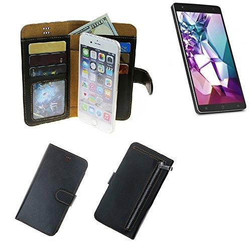 K-S-Trade Medion Life X6001 Schutz Hülle Portemonnaie Case Phone Cover Slim Klapphülle Handytasche Schutzhülle Handyhülle schwarz aus Kunstleder (1 STK)