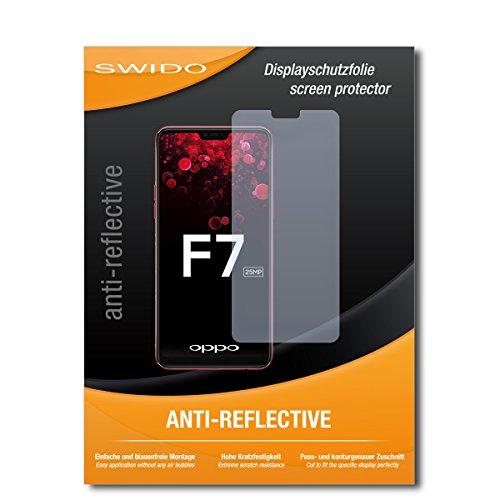 SWIDO Schutzfolie für Oppo F7 [2 Stück] Anti-Reflex MATT Entspiegelnd, Hoher Härtegrad, Schutz vor Kratzer/Bildschirmschutz, Bildschirmschutzfolie, Panzerglas-Folie
