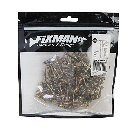 Fixman 481082 Vis à bois aggloméré, Or, Set de 200 Pièces