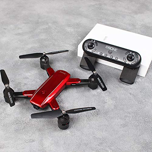 TianranRT★ Uav-Drohne/Quadcopter-Drohne Mit Doppeltem Optischem Fluss 2,4 Ghz 4Ch 1080P 5Mp Wifi , Lange Überwachung Der Akkulaufzeit Gefolgt Von Optischer Flusskamera-Rot - Lampenschirm Wachs