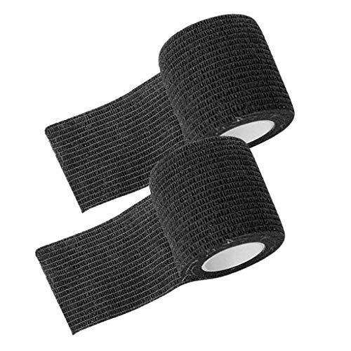 IPOTCH 2 Rotoli Bendaggio Coesivo Benda Adesiva Rotolo Flessibile Fascia in Tessuto Non Tessuto