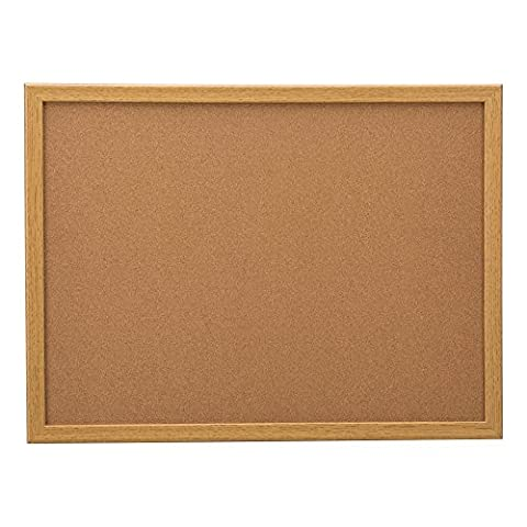 'School Outfitters de Nor ata1013So Norwood Commercial Furniture Cork Bulletin Board With Oak Frame, 3