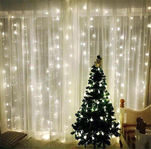 Xmas Candy Christmas Fairy String 20 Meter 200 LEDs Light Window Curtain Wedding Party Halloween Garden bedroom Outdoor Indoor Wall Dekorationen (weiß, 8 Modi, Tail (Halloween Dekor Tumblr)