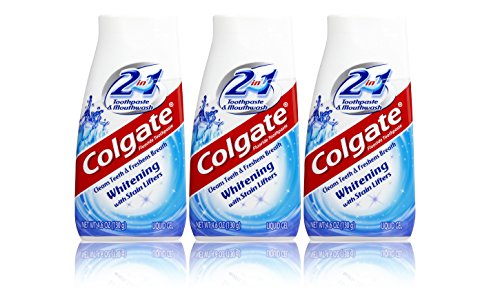 3x Colgate 2 in 1 Zahnpasta und Mundwasser 100ml Whitening Travel Size (Zahnpasta Colgate Whitening)