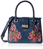 Guess Women's Arianna Top-Handle Bag blue Blu (Denim)