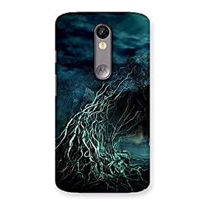 Special Tree Horror Back Case Cover for Moto X Force