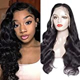 Peruanische Body Full Lace Human Hair Wigs für Schwarze Frauen 180 Dichte Glueless 100% Unverarbeitete Virgin Hair Wigs mit Baby-Haar-Pre gezupft,22INCH