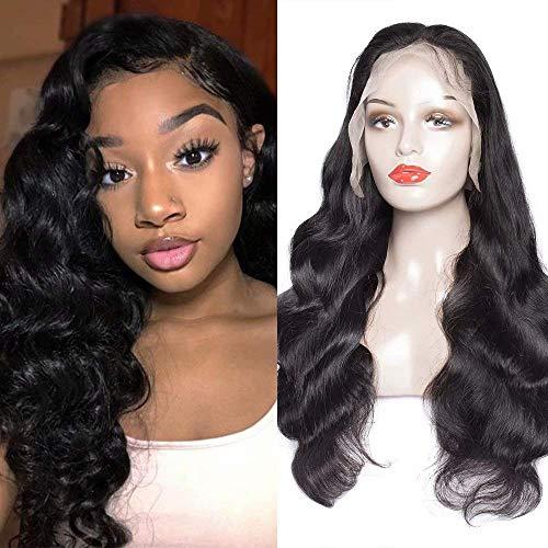 Peruanische Body Full Lace Human Hair Wigs für Schwarze Frauen 180 Dichte Glueless 100% Unverarbeitete Virgin Hair Wigs mit Baby-Haar-Pre gezupft,22INCH - Wave Full Lace Perücke