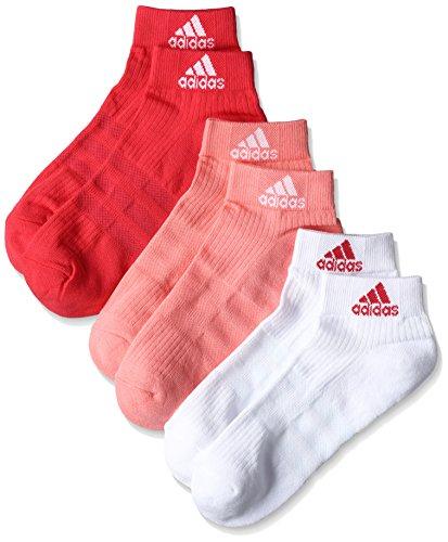 adidas Unisex 3-Stripes Performance Hc, 3 Paar Socken, mehrfarbig (Ray Pink/White/Joy), 27-30