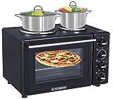 9 in 1 Backofen | Mini Backofen | Pizzaofen | Minibackofen | Backofen mit Umluft | Freistehender Backofen | 35 Liter | Auftaufunktion | Grillfunktion | Temperaturregelung 100-250°C | 3100 Watt