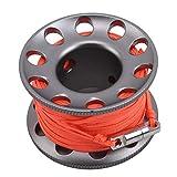 JOOFFF Diving Spool Tragbare Schnorchelrolle für Unterwasser-Strömungstauchen (1 Set), Grau
