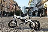 Be Cyclo E-Bike One Ultraleichtes Elektro Klapprad, nur 17 Kg! Mit LED Display, Handyhalter und Scheibenbremsen