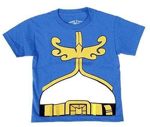 Power Megaforce Blaues Kostüm Ranger - Power Rangers Mighty Morphin Megaforce Jungendliche Royal blau Kostüm T-Shirt (Jungendliche Large)