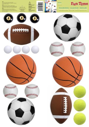 Two Fun Time Wall Stickers (Sports) One set of Stickers