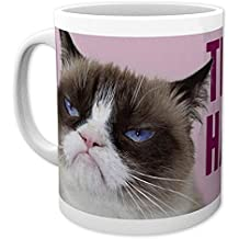 """Tasse Chat grincheux """"THIS IS MY HAPPY FACE"""""""