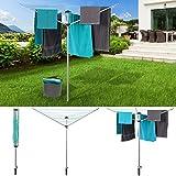 IDMarket Séchoir à linge parapluie étendage extérieur 24 m