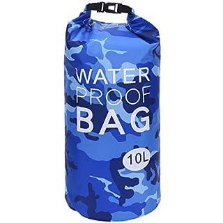 AiO-S - OK Drybag 10L Tasche 10 Liter Wasserdicht Packsack Camouflage Blau Water Proof Softcase