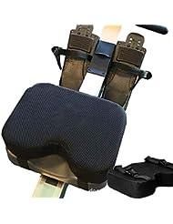 Funihut Resistance Rowing Machine Seat Cushion Memory Foam Washable Sleeve Sports Horizontal Fixed Bicycle Memory Foam Cushion