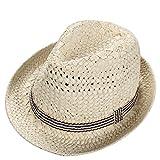 Skyeye Sombrero de Paja de los Niños UV de la Manera Visera de sol del Bebé Ceremonia del Sombrero del Jazz Sombrero de Playa del sol del Sombrero vacío del Verano