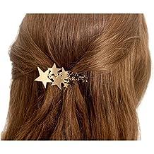Geometrische Haarspange Haarschmuck Haarklammer Klammer Spange Kreis Dreieck Halbmond in Silber- und Gold-Optik von DesiDo®
