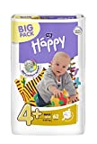 Bella Baby Happy Windeln Größe 4+ Maxi Plus 9-20 kg Big Pack, 4er Pack (4 x 62 Windeln)