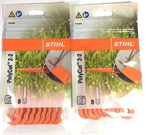 Stihl PolyCut 2-2 Kunststoffmesser für FSA 45 Rasentrimmer 2 Packungen ( 16 Stück)