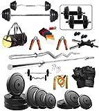 #8: Bodyfit 20Kg Weight Plates,5Ft Rod,3Ft Curl Rod,2D.Rods Home Gym Dumbell Set.