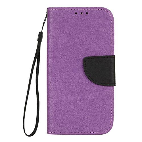 Galaxy A3 (2017) Hülle, BONROY® Retro contrast color leather case für Samsung Galaxy A3 (2017) A320 Ledertasche Schutzhülle Case PU Leder Wallet Tasche Brieftasche PU Lederhülle Flip Hülle im Bookstyle mit Kartenfach für Samsung Galaxy A3 (2017) A320