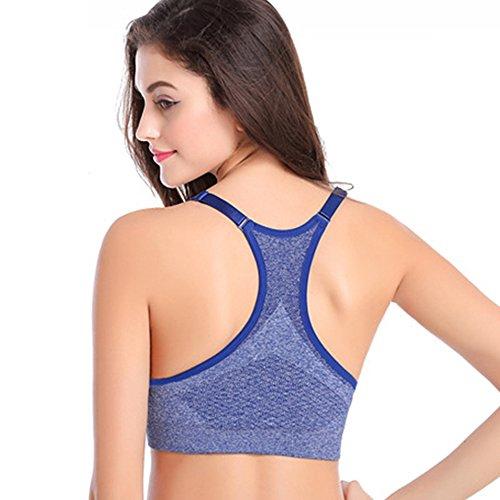 Honglion Damen Sport-BH Blau - Blau