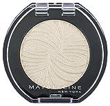 Maybelline New York Lidschatten Colorshow Mono Shadow Tiffanys White 12 / Eyeshadow Weiß glänzendes Finish, leuchtende Farben, intensive Deckkraft, 1 x 3 g