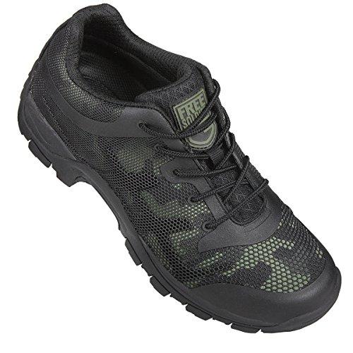 FREE SOLDIER-Scarpe da arrampicata, uomo, Sport, escursionismo, montagna, antiscivolo, traspiranti, scarpe da esterni Black Camouflage