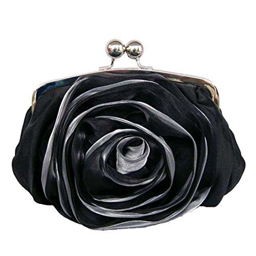 YYW Silk Clutch Bag, Poschette giorno donna Black