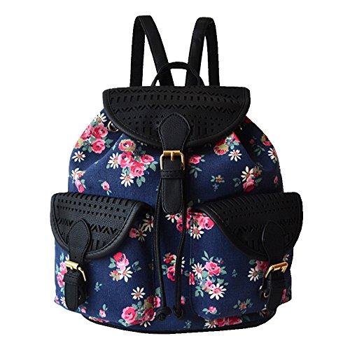 byd-femme-sacs-portes-dos-school-bag-travel-bag-imprimes-fleuris-vintage-design-with-metal-brand-car