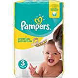 Pampers Premium Protection Größe 3 (Midi) 5-9 kg Monatsbox, 1er Pack, 1 x 204 Windeln