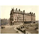 Victorian View of St. Enoch's Station, Glasgow, Scotland, Large A3 size 41 by 28 cm Canvas Textured Fine Art Paper Photo Print