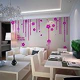 IKZA Wandaufkleber Acryl Kunst 3D Wandtattoo DIY Kristall Entfernbare Wand Poster Wohnkultur für Wohnzimmer Schlafzimmer Küche Bad Restaurant Hintergrund