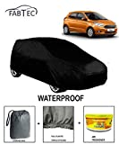 #7: Fabtec Waterproof Car Body Cover for Ford Figo New with Car Air Freshener & Storage Bag Combo! and Full Bottom Elastic & Big Belt Buckle Lock