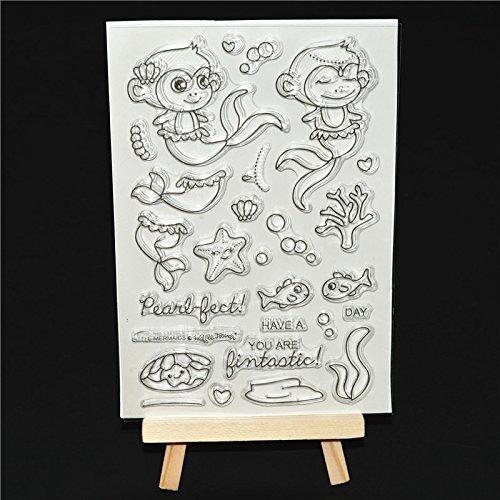 Transparent Klar Silikon Stempel/Seal für DIY Scrapbooking/Album dekorativen CLEAR STAMP Blatt A153 (Monkey Einladungen)