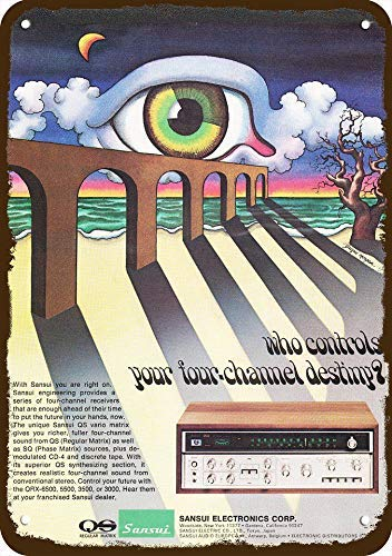 1973 Sansui Qs Vario 4-Channel Stereo Receiver Vintage Look Replica Metal Sign 7