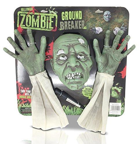 Halloween Zombie Ground Breaker Vorne Garten Rasen Creepy Scary Dekoration grün (Zombie Halloween-rasen Dekorationen)