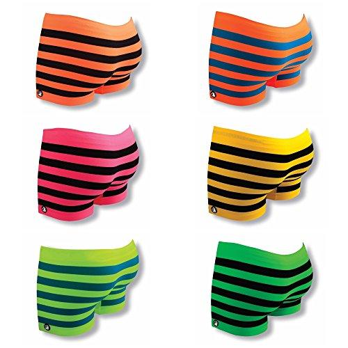 Original Lanyards® UNDZ Damen Panties Shorts Underwear Orange-Blau
