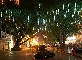 Clode® 30CM LED beleuchtet Meteor Dusche Regen Schneefall Weihnachtsbaum Garten im Freien (Weiß)
