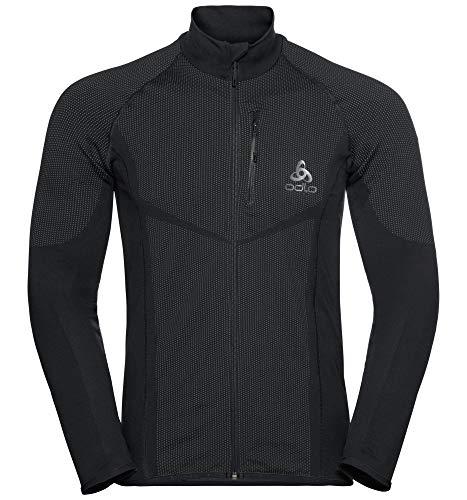Odlo Herren Velocity Light Jacke, Black/Concrete Grey, L Die Performance Light Jacket